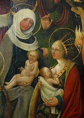 Hannover, Niedersachsen, Niedersächsisches Landesmuseum, youngest members of the holy family, from the Sippenaltar of the Kreuzkirche in Hannover