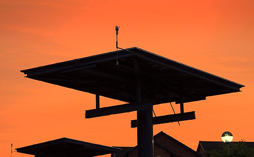 Solar panels at the UCLan at sunset at Preston | by Tony Worrall