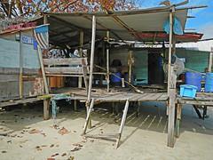 Beach shack at Pangkor, Malaysia
