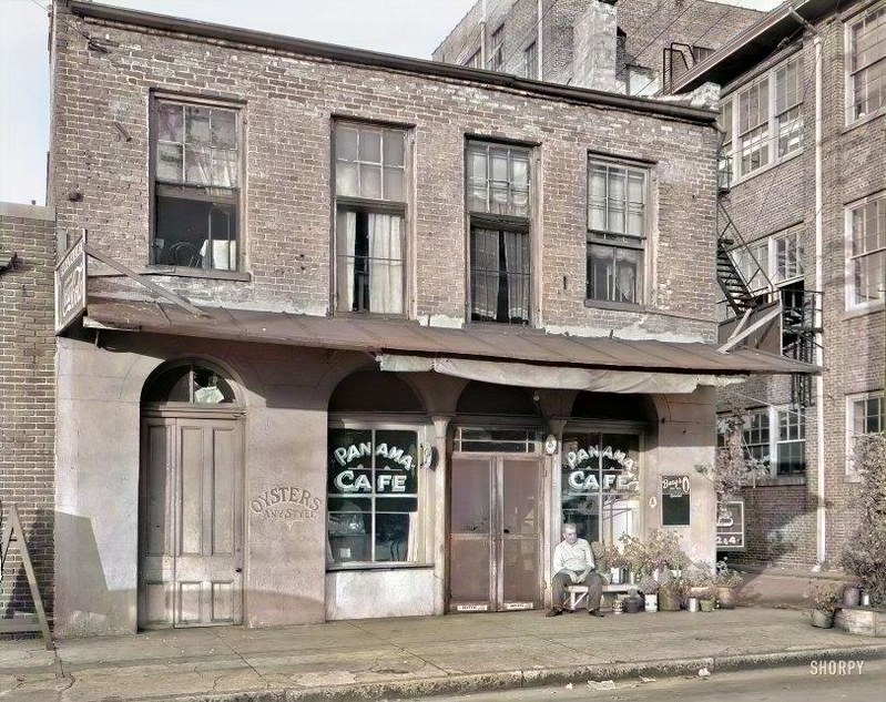 1939. Mobile, Alabama Collins store Royal Street near St. Louis Street