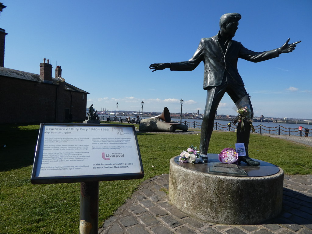 Statue of Billy Fury, Liverpool Waterfront
