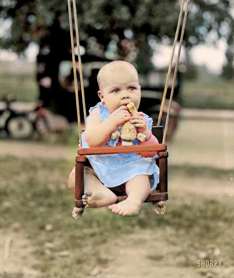 August 29, 1922. Washington, D.C. Catherine May Byram, Plaza baby show