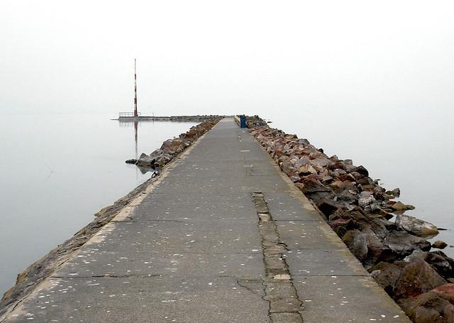 Balaton lake pier