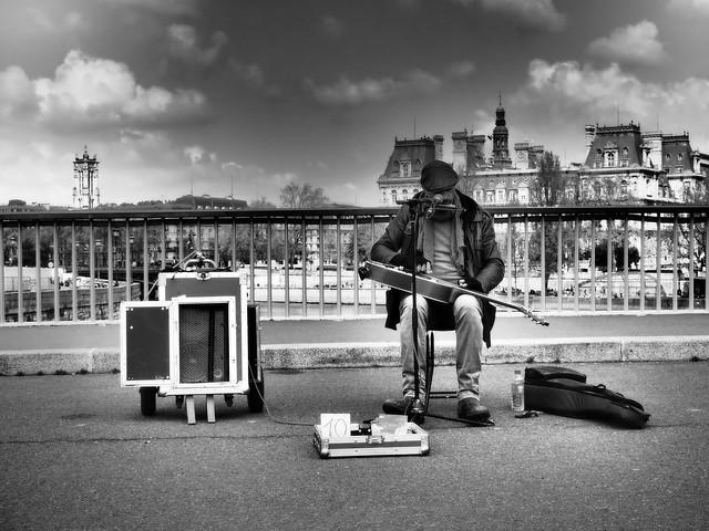 Le musicien du pont