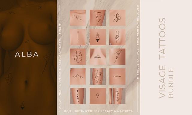 ALBA - Visage Tattoos Bundle x Harajuku Event