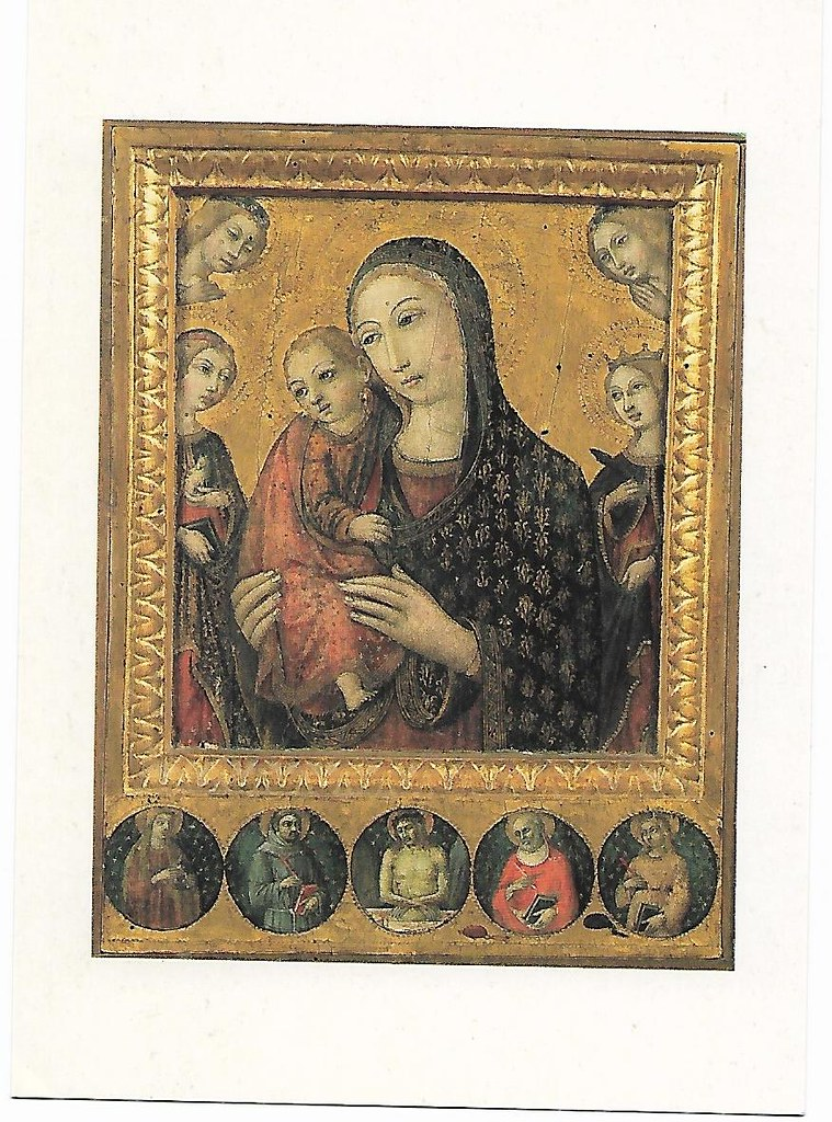 Poland - Sano di Pietro - Madonna with Child with SS Agnes and Catherine