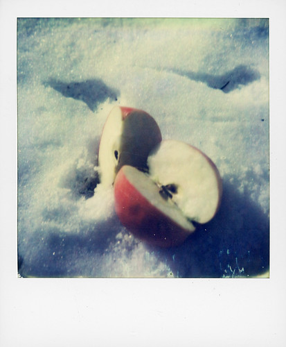 Apple and snow ... expired instant film