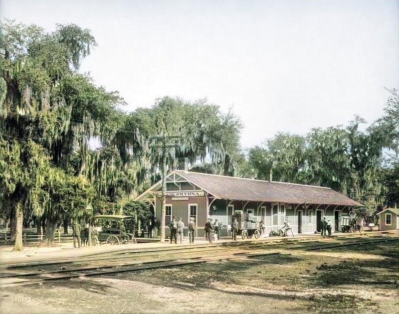 1904 East Coast Railway station, New Smyrna (Beach), Florida