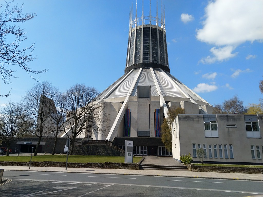Side view of Liverpool Catholic Cathedral