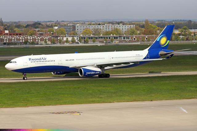 9XR-WP  -  Airbus A330-343  -  RwandAir  -  LHR/EGLL 21/4/21