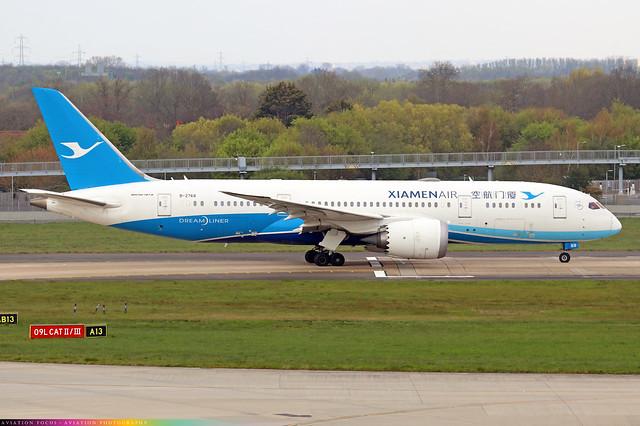 B-2768  -  Boeing 787-8 Dreamliner  -  Xiamen Air  -  LHR/EGLL 20/4/21