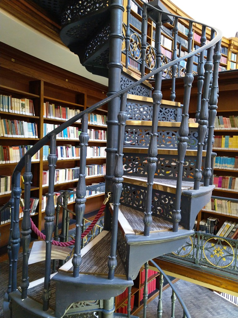 Spiral staircases in the Picton Reading Room, Liverpool Central Library