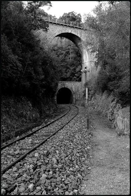 Bridge and railway tunnel