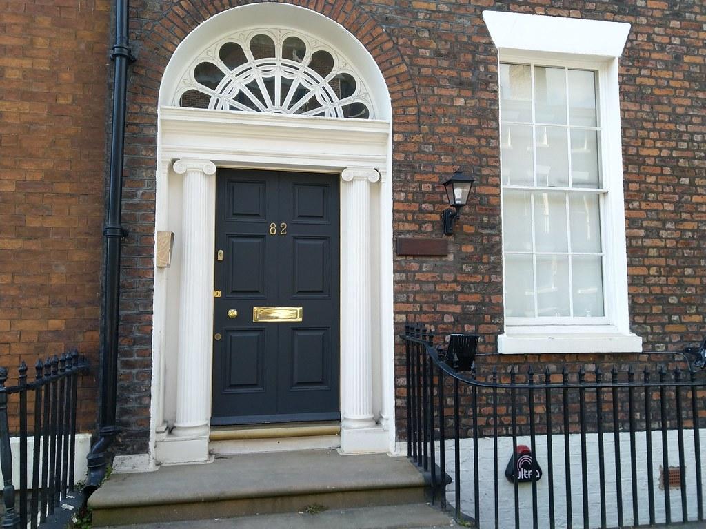 Period doorway in the Georgian Quarter, Liverpool