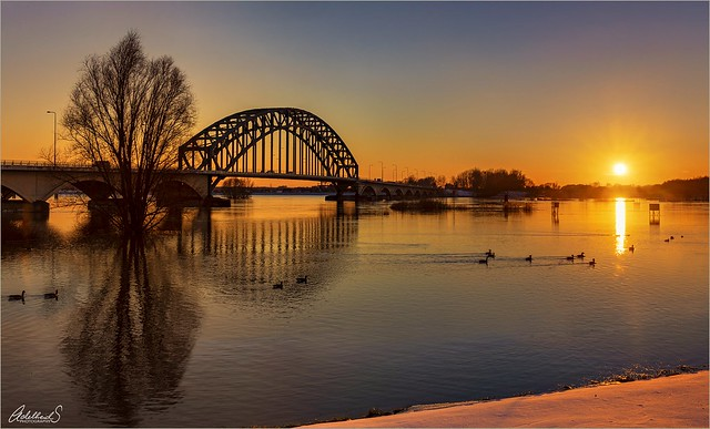 Sunset in Zwolle, Netherlands