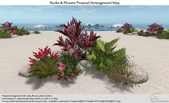 .:Tm:.Creation Tropical Flowers Rocks Arrangement M29