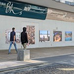 Photography exhibition at the old BHS store in Preston