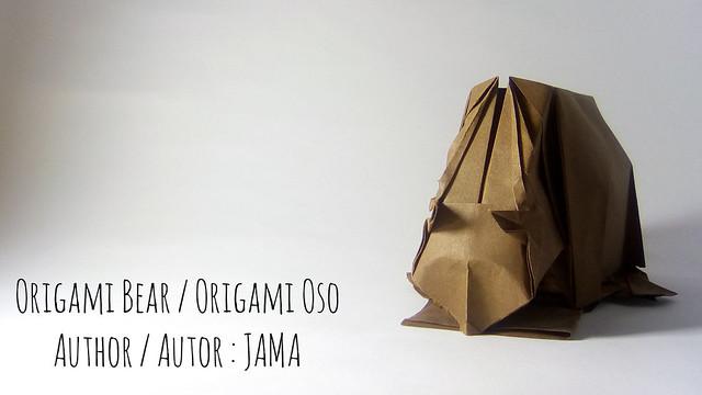 Origami bear / Origami oso