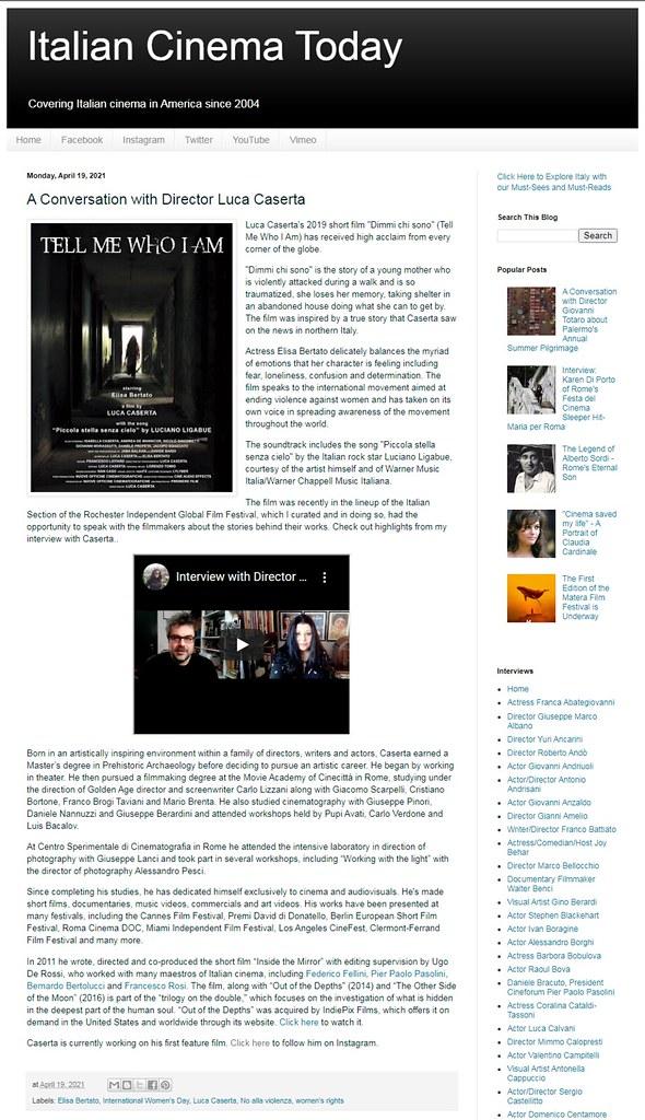 Intervista negli USA per il regista Luca Caserta!
