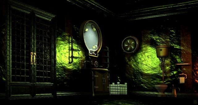 Steampunk Bathroom Set