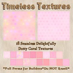 TT 18 Seamless Delightfully Dotty Coral Timeless Textures