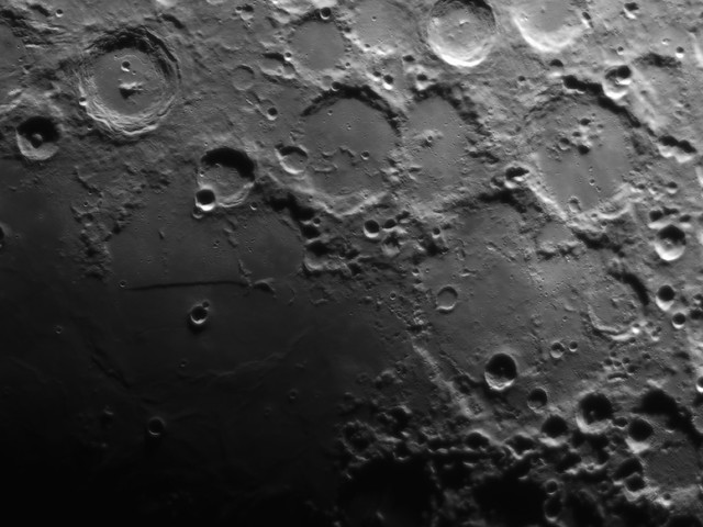 The Straight Wall, Arzachel and Deslandres, Day 8 lunar cycle