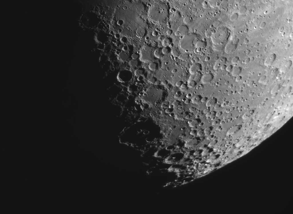 The Eyes of Clavius, Day 8 lunar cycle.
