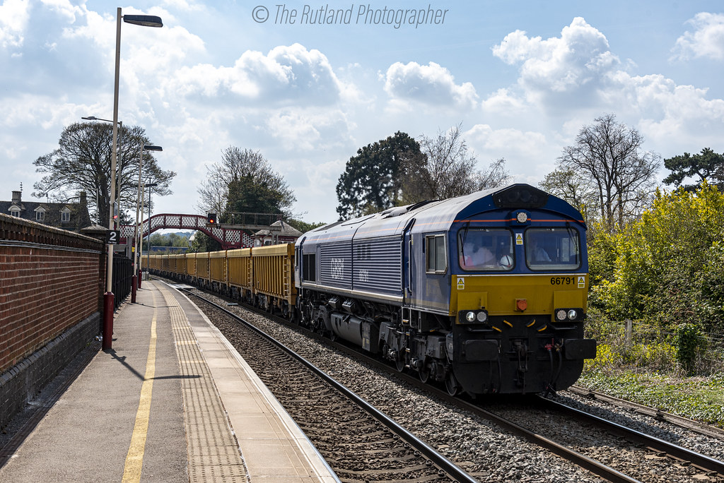 66791 Beacon Rail/GBRf collaboration 6M60 Whitemoor to Mountsorrel @ Oakham
