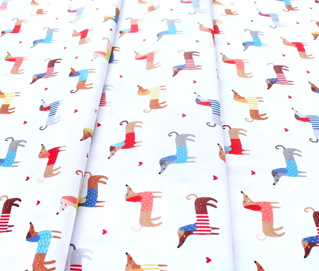 Robert Kaufman Fabrics Whiskers & Tails SRK-20414-195 Let's Pawty Dogs Bright