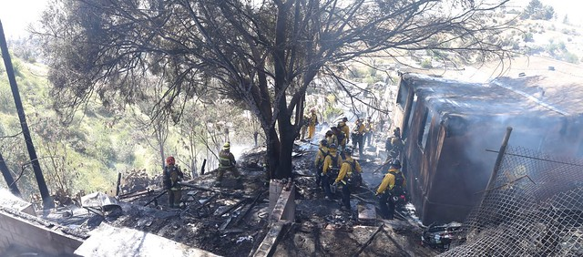 Lincoln Heights Brush Fire Destroys Home