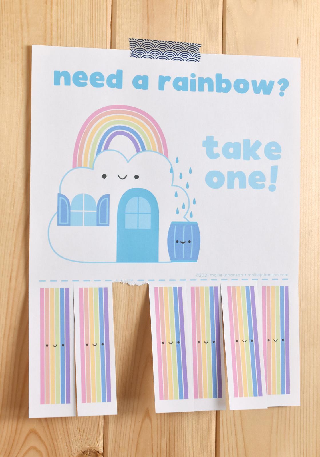 Take a Rainbow Printable Poster