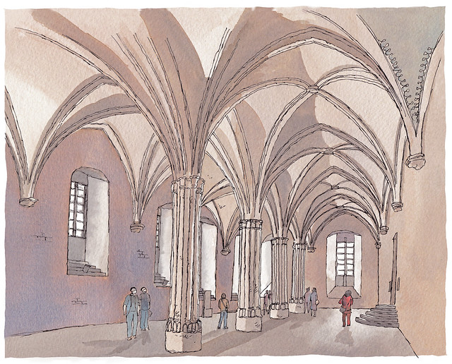 France, Avignon, the Popes' Palace (Grande Audience hall)