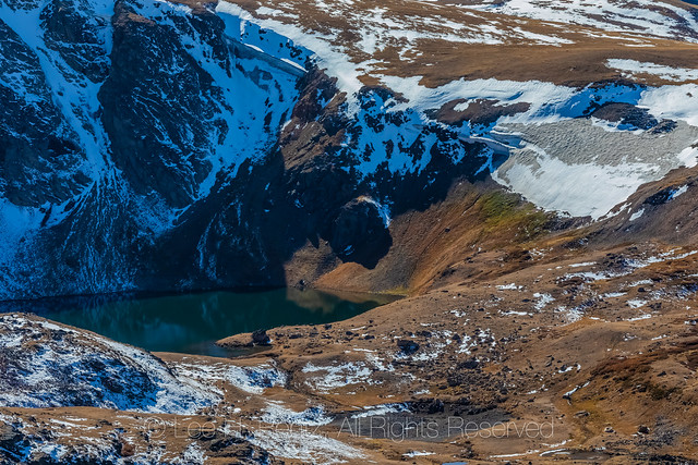 Small Glacier with Alpine Lake along Beartooth Highway
