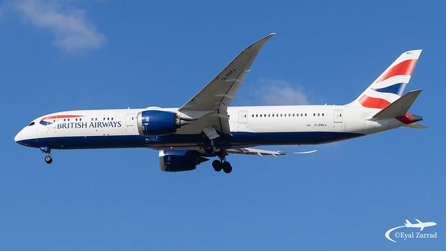 TLV - British Airways Boeing 787-9 G-ZBKJ