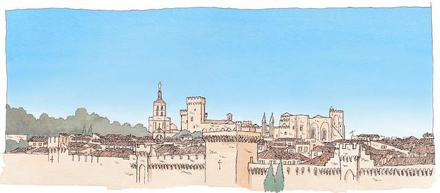 France, Avignon, skyline