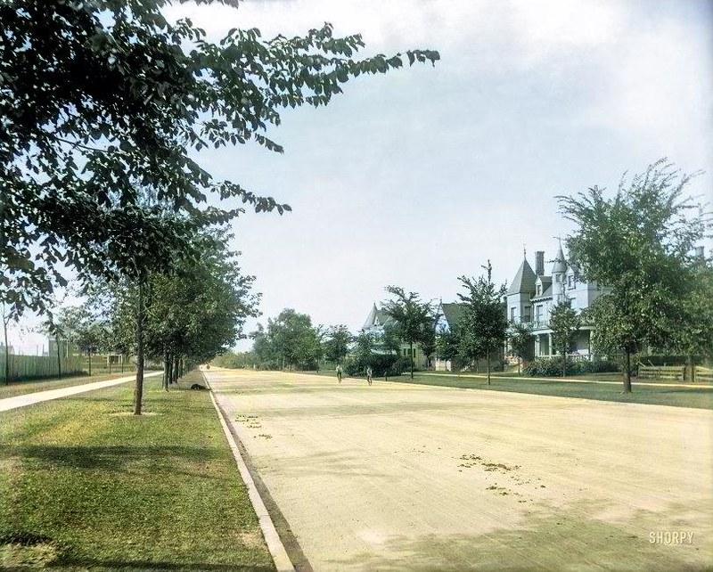 1902 Residences on East Grand Boulevard, Detroit, Michigan.