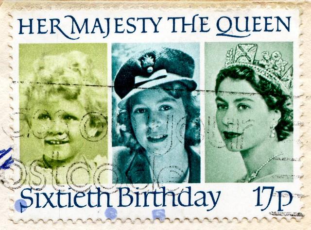 * birthday April, 21 * Queen Elizabeth II * beautiful stamp GB