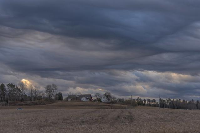 Early morning sky in Hølen, Norway