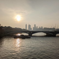 Misty London morning