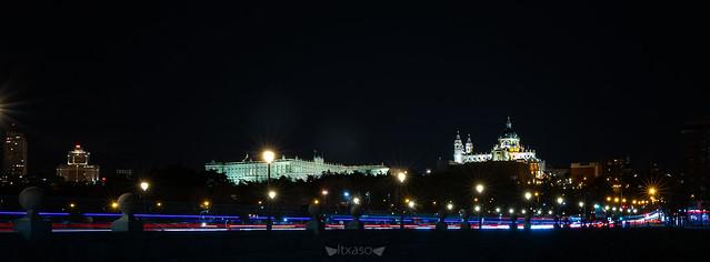 Anocheció Madrid.