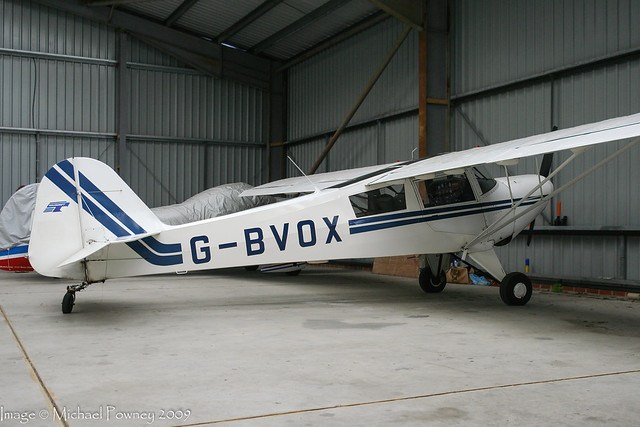 G-BVOX - 1991 build Taylorcraft F-22A Tracker, sadly damed beyond repair in a landing accident the following Summer