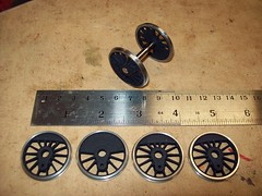 Shapeways sintered nylon centres fitted with Protocraft P48 tyres 1.3
