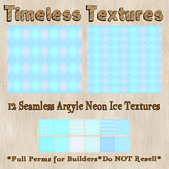 TT 12 Seamless Argyle Neon Ice Timeless Textures
