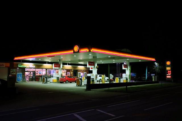 Shell Petrol Station Late @ Night