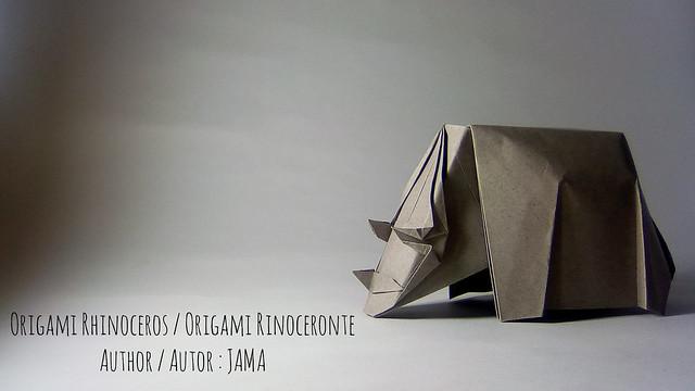 Origami rhinoceros / Origami rinoceronte