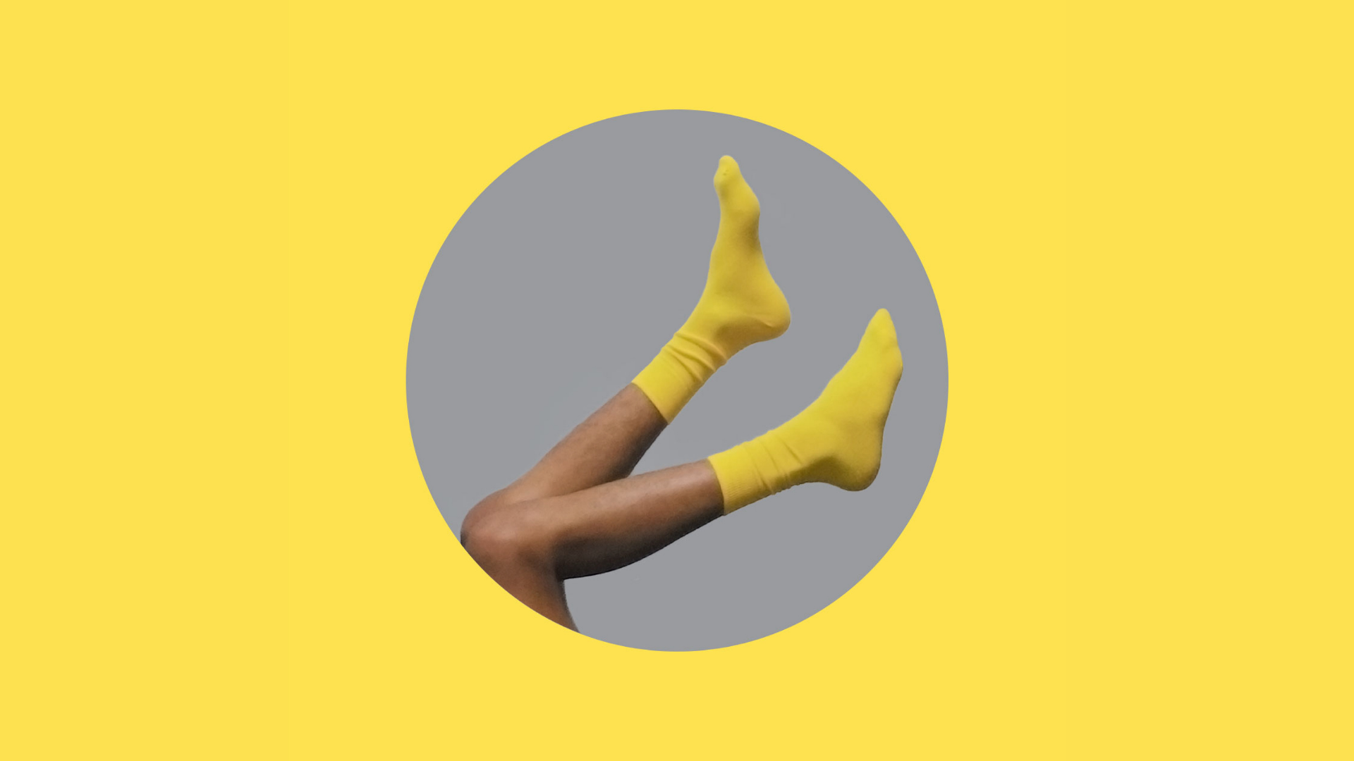 A picture of yellow socks