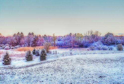 prayerfulview michigan dawn snow april lakeorion unitedstates