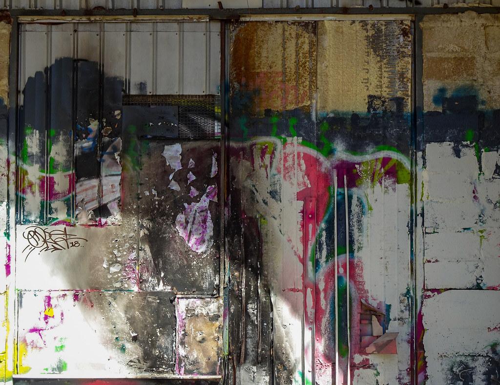 Graffiti Layers on Tunnel Entrance