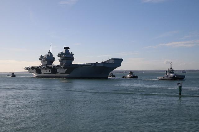 HMS Queen Elizabeth, Portsmouth, October 15th 2020