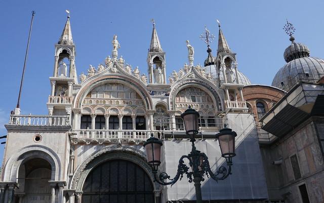 Façade nord, basilique St Marc, piazzetta dei Leoncini, quartier San Marco, Venise, Vénétie, Italie.